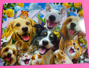 Birthday wishes parrot puppy rabbit cat hamster dog turtle flowers KIDS CARD