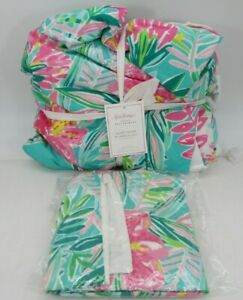 New Pottery Barn Lilly Pulitzer Jungle Lilly King Duvet Cover amp; 1 Euro Sham