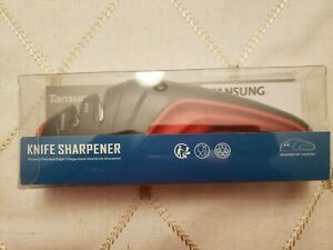 Tansung Knife Sharpener 2 Stage New Black Red
