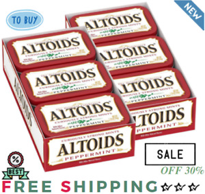 ALTOIDS Classic Peppermint Breath Mints 1.76 Ounce Tin Pack of 12