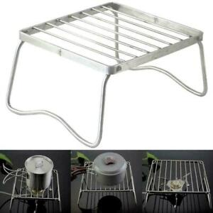 Stainless Steel Folding BBQ Camping Grill Rack Stove Tools Picnic Barbecue P2P9