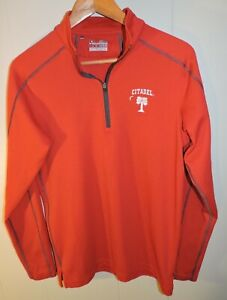 Mens Red Under Armour The Citadel 1 4 Zip Pullover Shirt Small $13.90