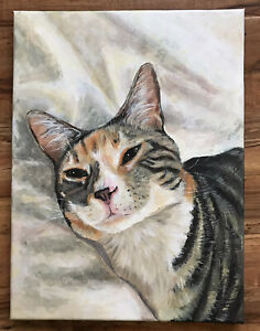 Custom Portrait Painting Acrylic on Canvas Made to Order Sizes Available $126.99