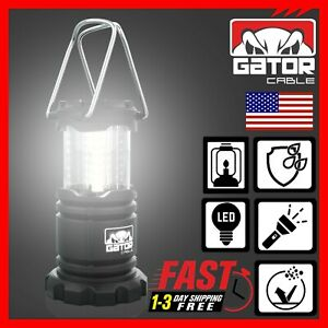 Portable Camping Hurricane 30 COB LED Collapsible Lantern Light Lamp 1000 Lumens
