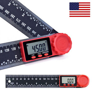 2 In 1 Electronic Digital Angle Finder 8quot; Measure Tool Protractor Ruler Gauge US $10.49