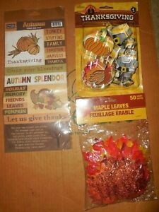 THANKSGIVING COOKIE CUTTERS PAPER LOFT AUTUMN WORDS FALL MAPLE LEAVES SALE