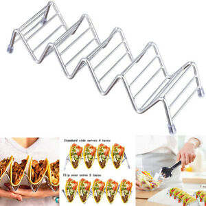 Wave Taco Shape Stainless Steel Holder Display Holders Kitchen Food Rack Shell