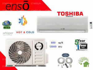 12000 BTU Ductless Air Conditioner Heat Pump Mini Split 110V: 1 TON w KIT