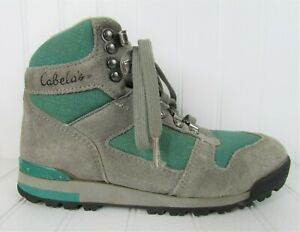Womens Vintage Cabelas Boots Hiking Trail Suede Athletic Shoes Size 6.5