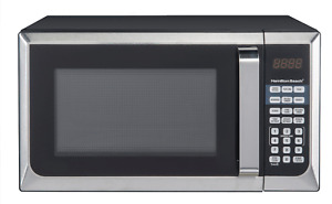 Stainless Steel 0.9 Cu Ft Microwave Oven Kitchen Countertop Touch Pad Control FS
