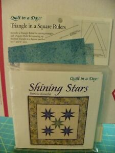 Quilt In A Day Triangle In a Square Rulers with Shining Star Quilt Pattern $9.99