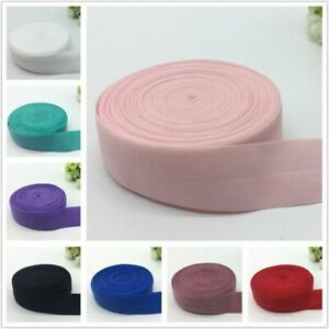 5yards lot 1quot; 25mm Elastic Band Fold Over Spandex Elastic Ribbon For Sewing $6.99