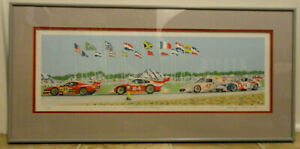 1984 Randy Owens Framed Serigraph quot;Daytona 24 Hoursquot; Signed amp; Numbered Ex. $250.00