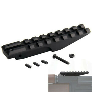 ohhunt Rear Sight Rail Scope Mount Red Dot Adapter Base Picatinny Weaver Hunting