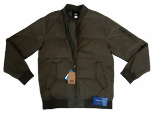 VANS STRAHORN QUILTED BOMBER JACKET COAT GREEN MENS SIZE SMALL S DUPONT NWT