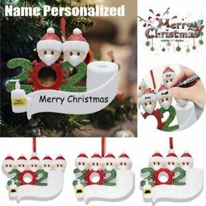2020 Personalized Christmas Ornament Family Name Diy Tree Hanging Ornament Decor