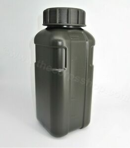 1L SQUARE ARMY WATER BOTTLE TACTICAL MILITARY DRINK FLASK BPA FREE AU $9.95