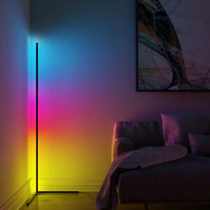 """Lux Lamps 40"""" Modern Corner LED Floor Lamp Color Changing and Dimmable USA"""