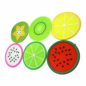 Cute Fruits Silicone Coaster Tea Coffee Cup Drinks Holder Home Mat Tableware