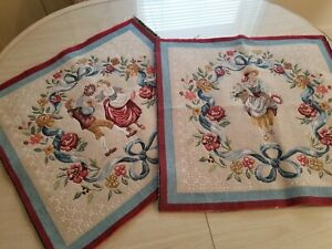J Pansu Tappisseries Menuet Rosiere made France tapestry Pillow Chair Covers?