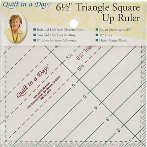 Heavy Gauge Plastic Triangle Square up Ruler for Quilting $21.99