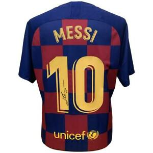 FC Barcelona Gifts Messi Signed Shirt 19 20 GBP 499.99