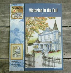 House quot;Victorian In The Fallquot; Cross Stitch Leaflet by Stitch World Spurlock $4.99