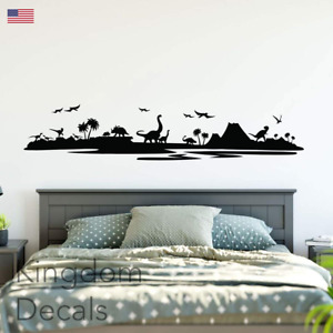Dinosaur Landscape Scene Wall Decal Sticker Art Vinyl Kids Wall Decor Nursery
