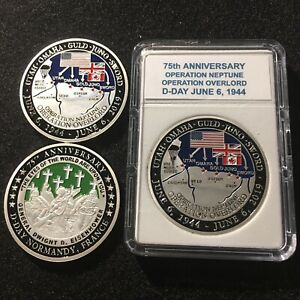 75th Anniversary D Day Normandy France Operation Overlord Challenge Coin $16.95