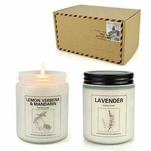 Double Gift Home Scented Candles Aromatherapy Candles Made with Soy Wax and E...