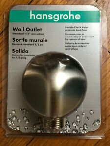 Hansgrohe 1 2quot; Wall Outlet 27458823 Brushed Nickel NEW