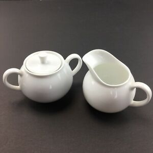 Arzberg China Creamer and covered Sugar Dish White Vintage Made in Germany
