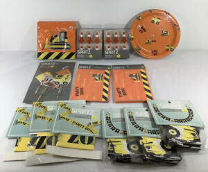 Huge New Lot of Construction Party Supplies Heavy Equipment Caution FREE SHIP