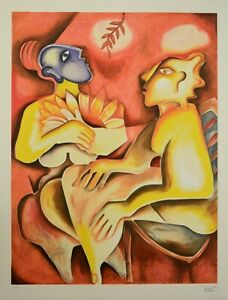 Alexandra Nechita quot;WHEN SUNFLOWERS BLOOM AGAINquot; Signed and Numbered Lithograph $350.00