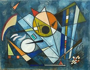 KANDINSKY GOUACHE PAINTING Signed Picasso Era **See Excellent Provenance** $6850.00