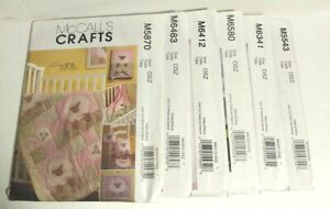 McCall#x27;s sewing New Lot of 6 Quilt patterns M5870 M6483 M6412 M6580 M6341 M5543 $19.95