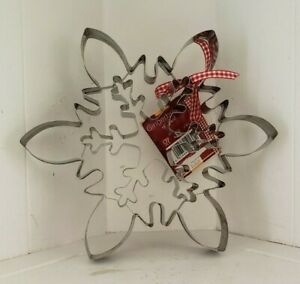 Birkmann Large Snowflake Cookie Cutter Stainless Steel Recipe Booklet Germany $17.99