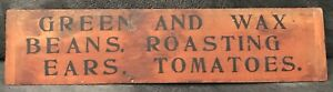 Vintage Wood Grocery Produce Sign $49.99