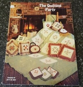 The Quilting Party by Jerry amp; Jane Counted Cross Stitch Book 1 $5.49