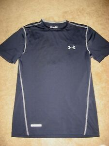 Mens NWOT Navy UNDER ARMOUR Fitted Compression Short Sleeve Athletic Shirt Small $19.99
