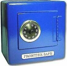 Blue Metal Frontier Safe Bank With Combination Lock $18.59