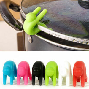 Silicone Kitchen Accessories Lift Pot Cover Overflow Device Heighter Tool Useful C $1.03