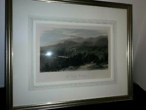 Framed and Matted Hand Colored Lithograph of North Carolina SMOKY MOUNTAINS $49.99