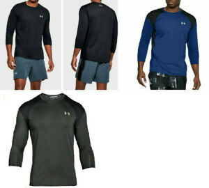 Under Armour CoolSwitch Men's Large Athletic Gym Shirt CrossFit 3 4 Sleeve $19.99