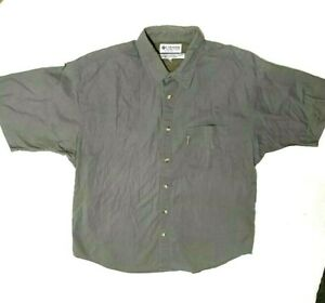 Columbia Fishing Shirt Mens Greenish Size Large Vented Back Cooling Outdoors