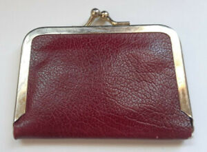 Vintage Travel Sewing Kit Burgundy Clasp Style Used Fair Condition $7.00