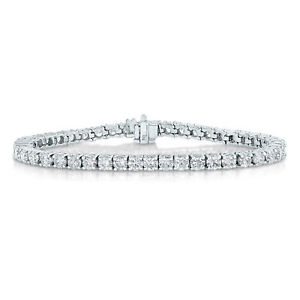 2 cttw Classic Diamond Tennis Bracelet 14K White Gold 7 Inches Round Prong Set