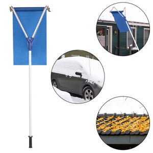 20FT Telescoping Snow Roof Rake Scratch Free Great to Remove Snow Leaves Debris $46.95
