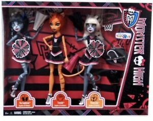 New Monster High Fearleading Squad 3 Pack Purrsephone Meowlody Toralei Rare $89.99