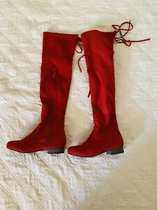 Red boots size 7 NEW